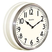 Westclox 32041AW Plastic Analog Wall Clock, Black