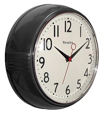 Westclox 32042BK Plastic Analog Wall Clock, Black