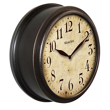 Westclox 32217B Plastic Analog Deep Dish Classic Wall Clock, Black