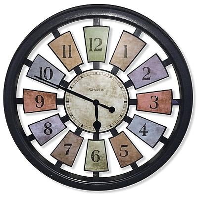 Westclox 36014W Plastic Analog Kaleidoscope Wall Clock, Black