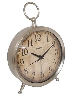 Westclox 49829V Metal Analog Big Ben Table Clock, Silver