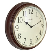 Westclox 73004P Wood Analog Wall Clock, Brown