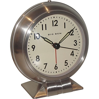 Westclox 90010A Metal Analog Big Ben Table Clock, Silver