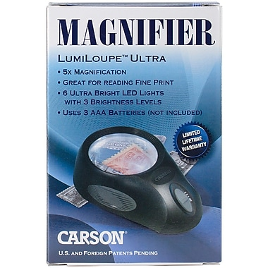 Carson® Optical LL-88 LumiLoupe Ultra 5x Power Magnifier