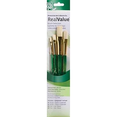 Princeton Art & Brush™ Real Value Natural Bristle Brush Set, Bright 2, 4, Flat 6, 8