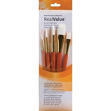 Princeton Art & Brush™ Real Value Synthetic White Taklon Brush Set, Round 2, 8, 12