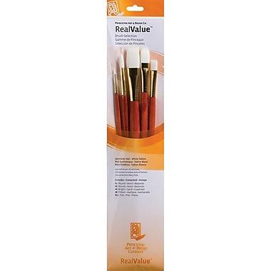 Princeton Art & Brush™ Real Value Synthetic White Taklon Brush Set, Bright 6