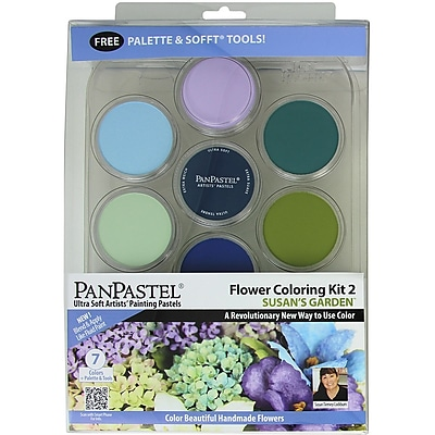 Colorfin PanPastel Ultra Soft Artist Pastel Set, Flower Coloring Kit #2, Susans Garden