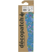 """Decopatch 15 3/4"""" x 11 3/4"""" Paper, Blue And Green Flowers"""