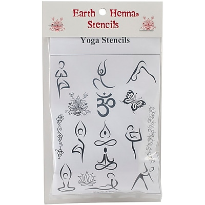 Earth Henna® Stencil Transfer Pack, Yoga