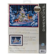 """Dimensions 14"""" x 11"""" Counted Cross Stitch Kit, Woodland Glow"""