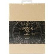 "Graphic 45 Staples Tag Kraft Album Book Box, 4.62"" x 6.62"""