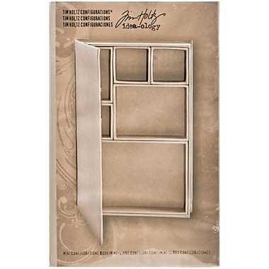 Advantus Idea-Ology Configurations Mini Chipboard Shadow Box Book, 6