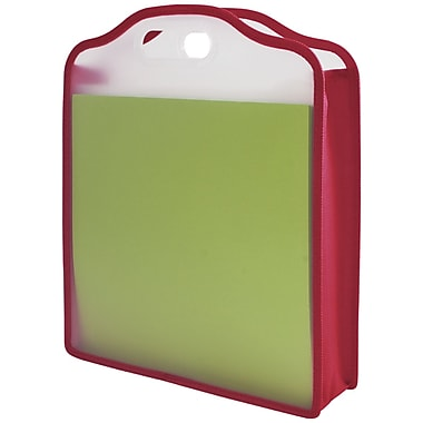 Advantus Storage Studios Paper Folio, Pink/Green
