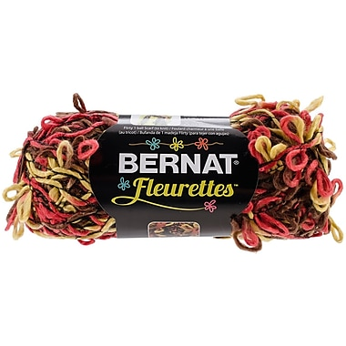 Spinrite® Bernat® Fleurettes Yarn, Warm Brown