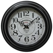 "Yosemite CLKA6165CMD 17"" Wall Clock With Black Iron Frame"