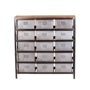 "Yosemite 48"" Accent Storage Cabinet, Distressed Metal"