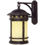 """Yosemite 16.1"""" x 9.1"""" x 11.8"""" 1-Light Wall Sconce With Frosted Glass Shade, Desert Night"""