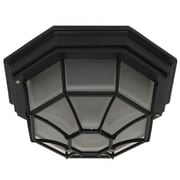 """Yosemite Serge 5"""" x 10 3/4"""" Exterior Flush Mount Ceiling Light W/Frosted Glass, Bronze"""