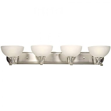 Yosemite 4-Light Vanity Light With Ivory Cloud Shade, Satin Nickel