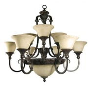 "Yosemite Verona 31 1/2"" x 34 1/2"" Ceiling Light W/Honey Parchment Glass Shade, Bronze"
