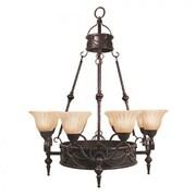 "Yosemite Isabella 40 1/2"" x 31"" Ceiling Light W/a Spanish Scalloped Glass Shade, Bronze"
