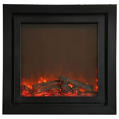 Yosemite Perseus Double Surround Electric Fireplace, Black