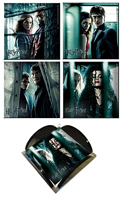 Trend Setters Harry Potter 7 Glass Print Coaster (Set of 4)