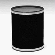 Redmon Bath Jewelry 2 Gallon Waste Basket; Black with Chrome Trim