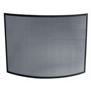 Uniflame Single Panel Curved Fireplace Screen; Wrought Iron