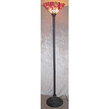 Warehouse of Tiffany Peacock 72'' Torchiere Floor Lamp