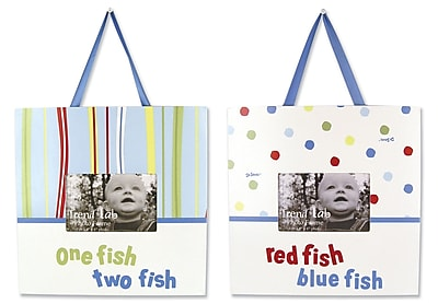 Trend Lab Dr. Seuss 1 Fish 2 Fish Dr. Seuss Picture Frame (Set of 2); 1 Fish 2 Fish