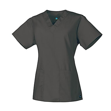 Core 1016 2-Pocket V-Neck Top, Pewter, Regular XXS