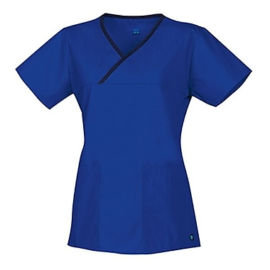 Maevn Core 1026 Y-Neck Mock Wrap Tops, Royal