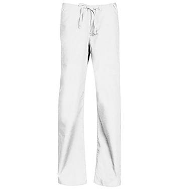 Core 9006 Unisex Seamless Drawstring Pant, White, Regular M