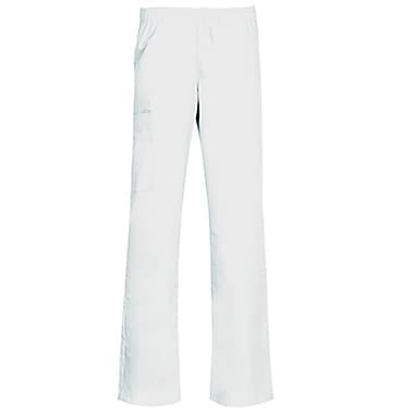 Core 9016 Full Elastic Cargo Pant, White, Regular XS