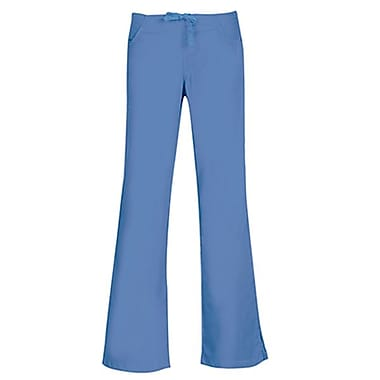 Maevn Core 9026X Drawstring & Back Elastic Flare Pants, Ceil Blue