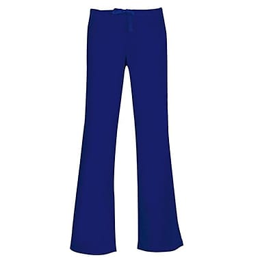 Core 9026 Drawstring & Back Elastic Flare Pant, Navy, Regular XS