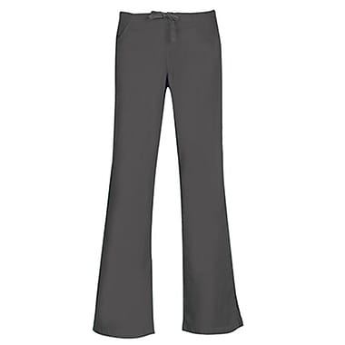 Maevn Core 9026 Drawstring & Back Elastic Flare Pants, Pewter