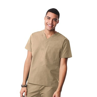Core 1006X Unisex V-Neck Top, Khaki, Plus 4XL