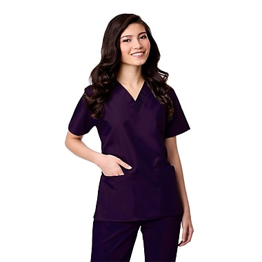 Maevn Core 1016X 2-Pocket V-Neck Tops, Purple