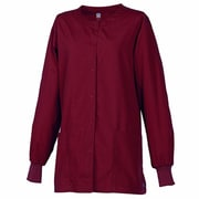 Maevn Core 8606 Unisex Round Neck Snap Front Jacket, Wine