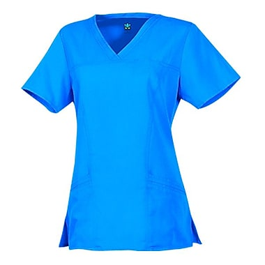 Maevn Gravity 1203 Sporty V-Neck with Princess Seaming Tops, Marine Blue