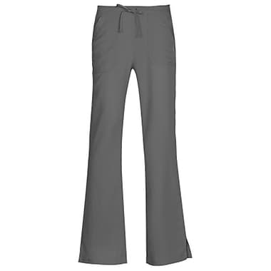 Gravity 9203 Sporty Back Elastic Front Drawstring Flare Pant, Pewter, Regular XS