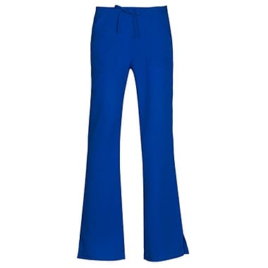 Gravity 9203 Sporty Back Elastic Front Drawstring Flare Pant, Royal, Regular S
