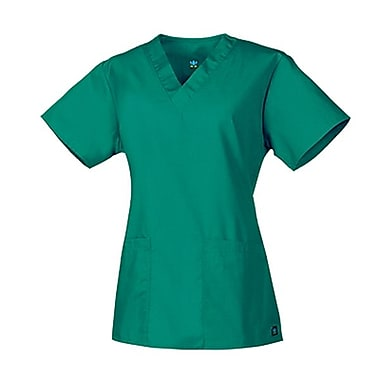 Core 1016 2-Pocket V-Neck Top, Teal, Regular XXS