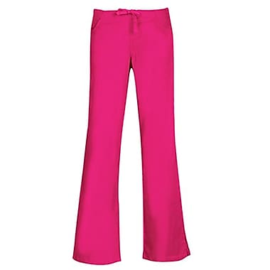 Maevn Core 9026 Drawstring & Back Elastic Flare Pants, Hot Pink