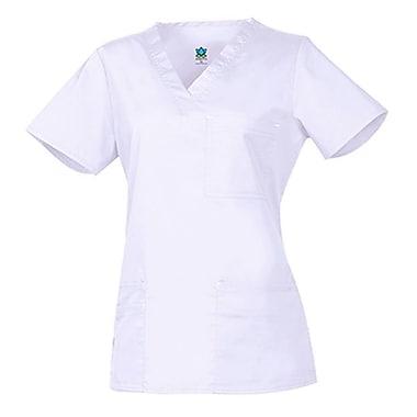 Haut mode à encolure en V avec 3 poches Blossom 1202, blanc, standard P