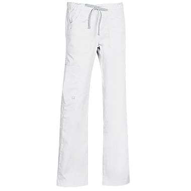 Blossom 9202T Multi-Pocket Utility Cargo Pant, White, Tall L