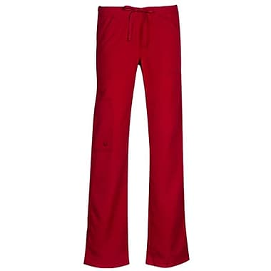 Gravity 9103 Fashion Bootcut Elastic Cargo with Drawstring, Tango Red, Regular XS
